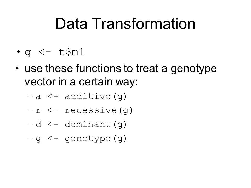 Data Transformation g <- t$m1