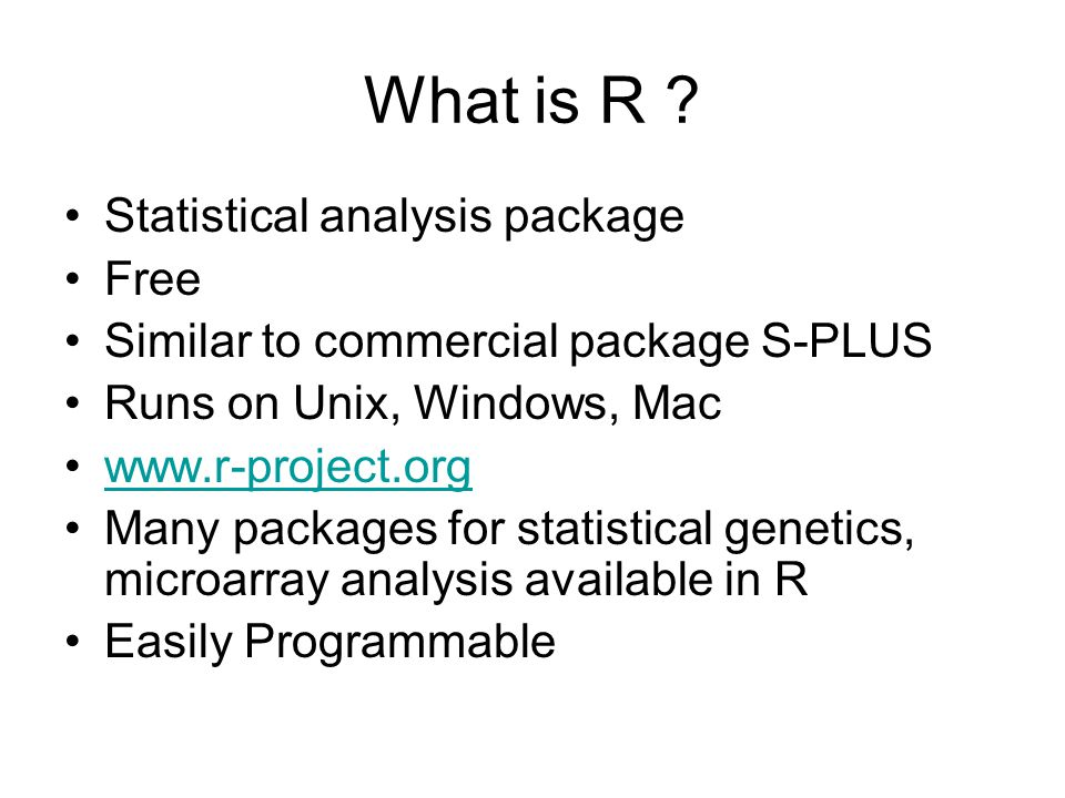 What is R Statistical analysis package Free
