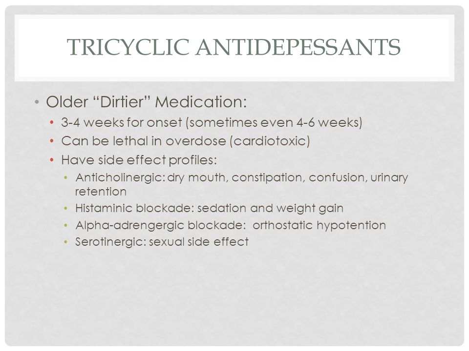 Tricyclic ANTIDEPESSANTS
