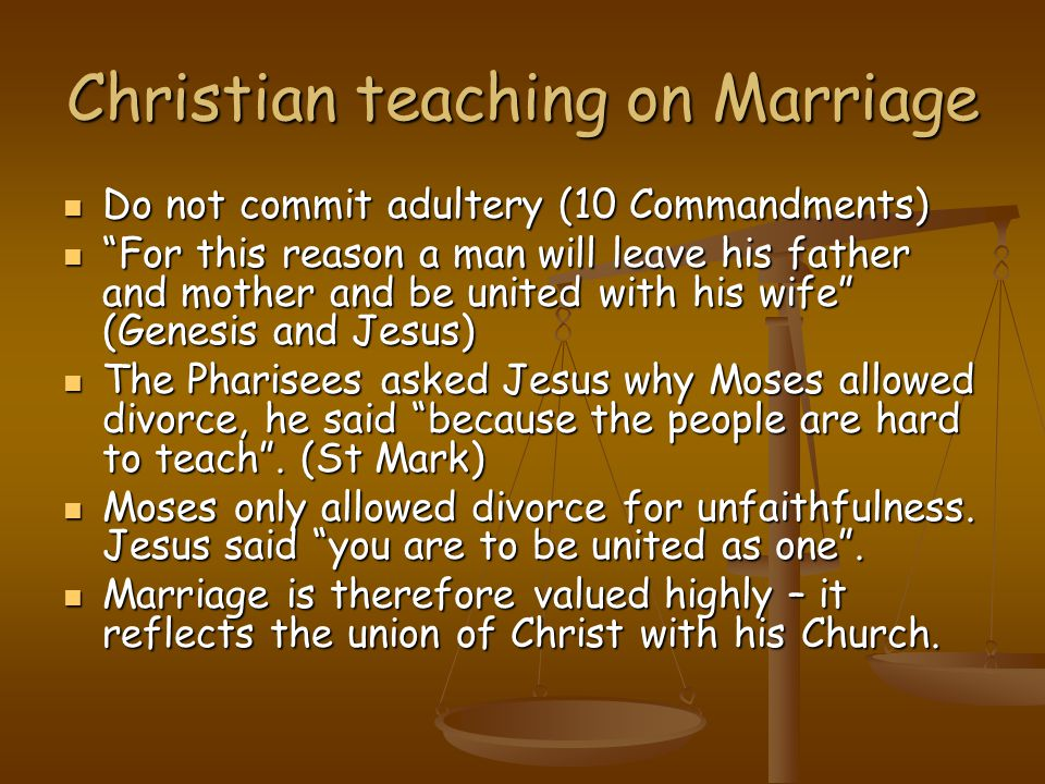 Christian teaching on Marriage