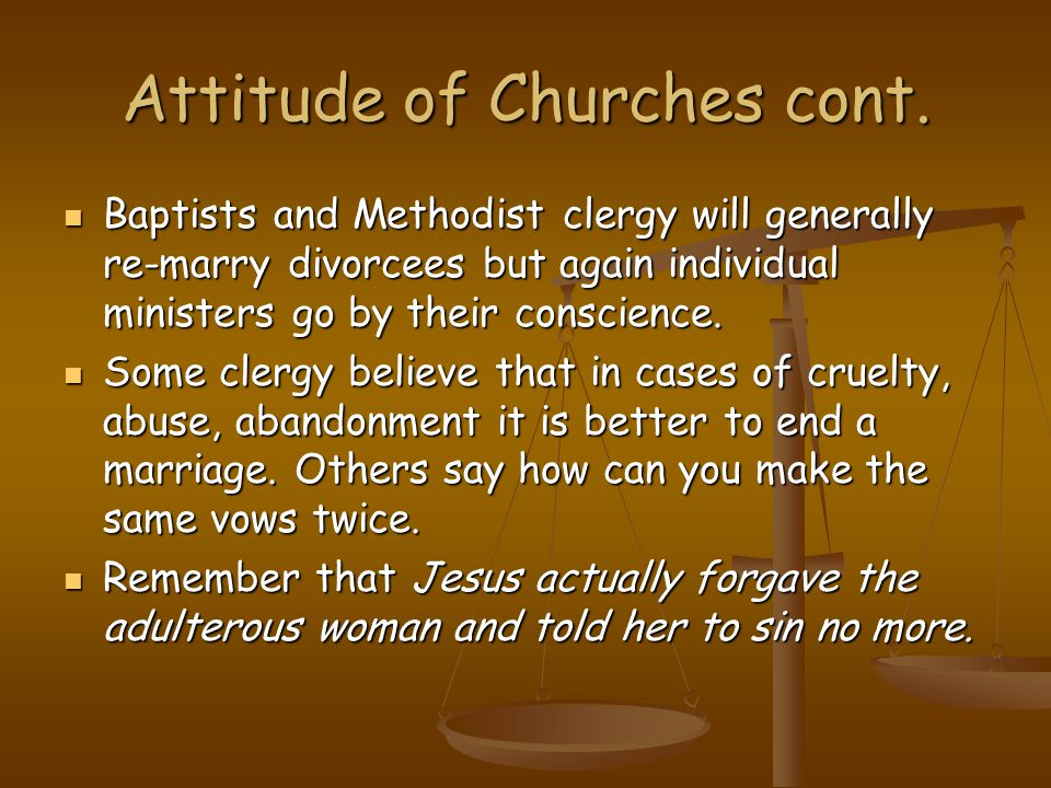 Attitude of Churches cont.