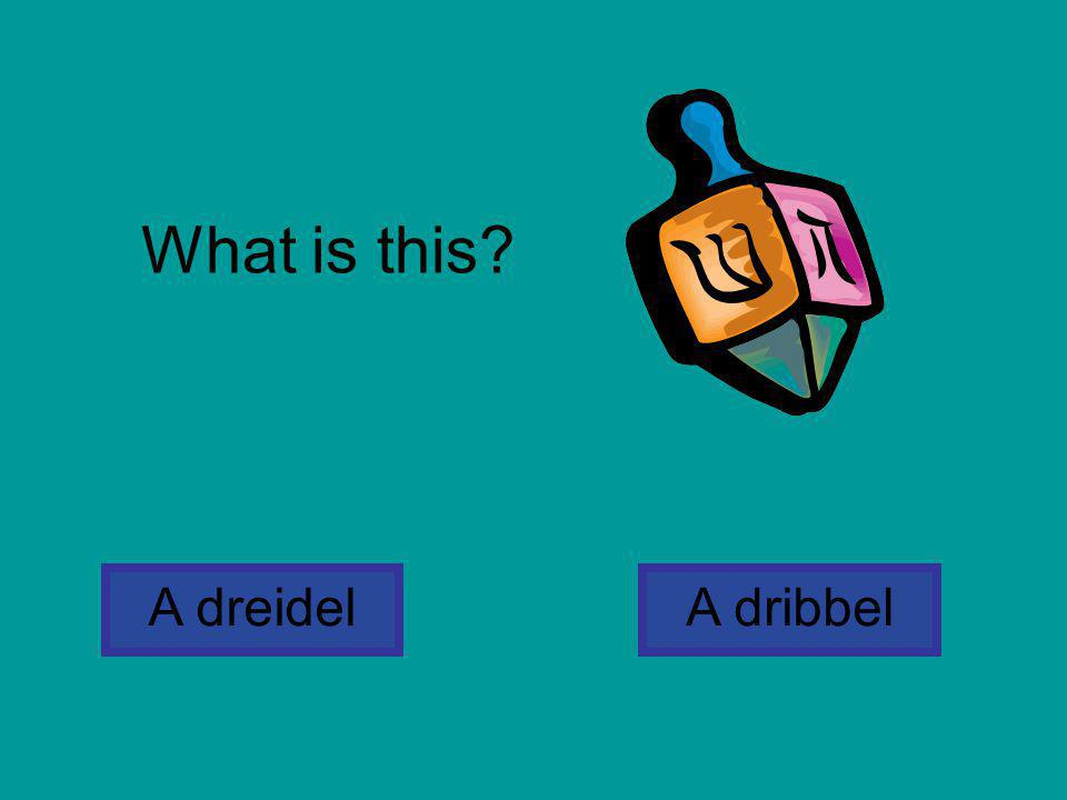 What is this A dreidel A dribbel