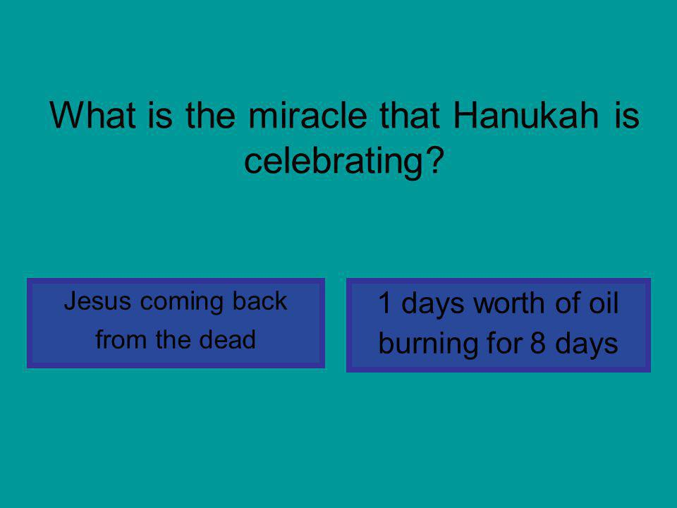 What is the miracle that Hanukah is celebrating