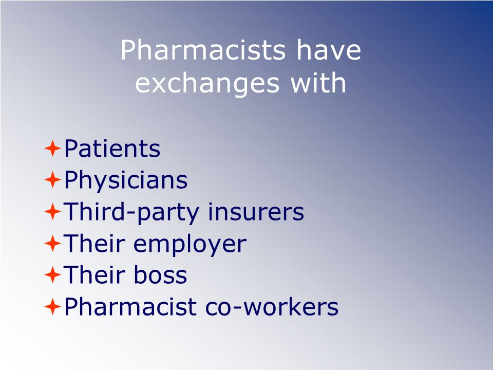 Pharmacists have exchanges with
