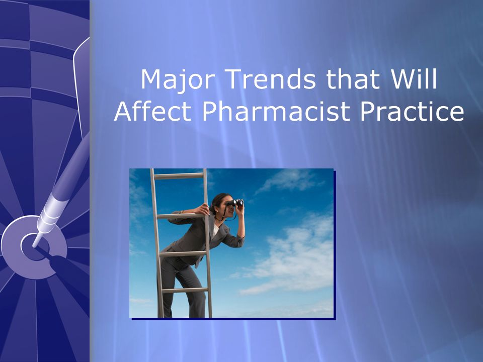 Major Trends that Will Affect Pharmacist Practice