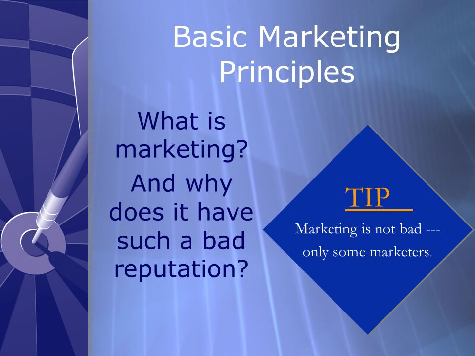 Basic Marketing Principles