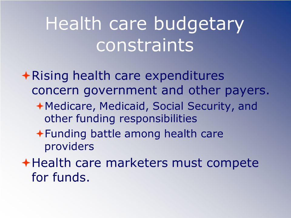 Health care budgetary constraints