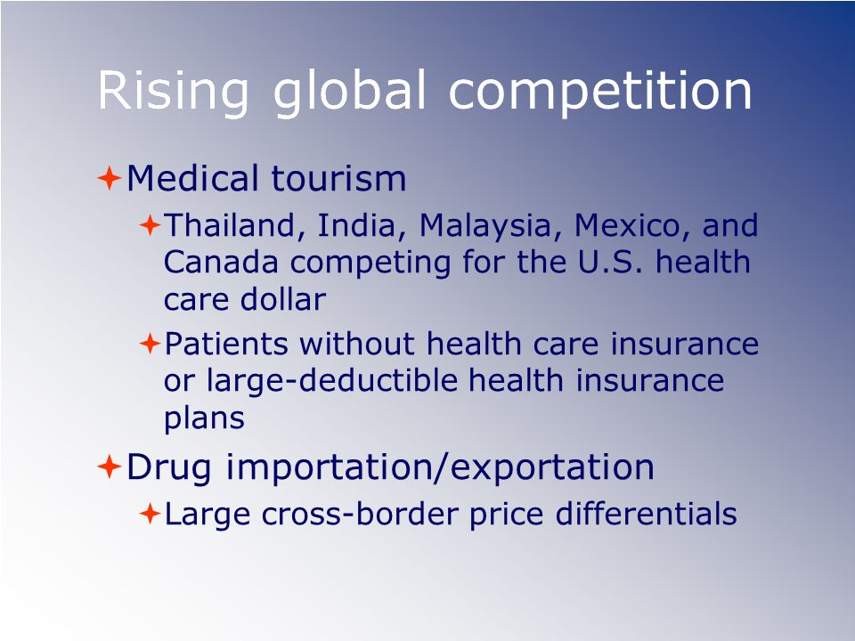 Rising global competition