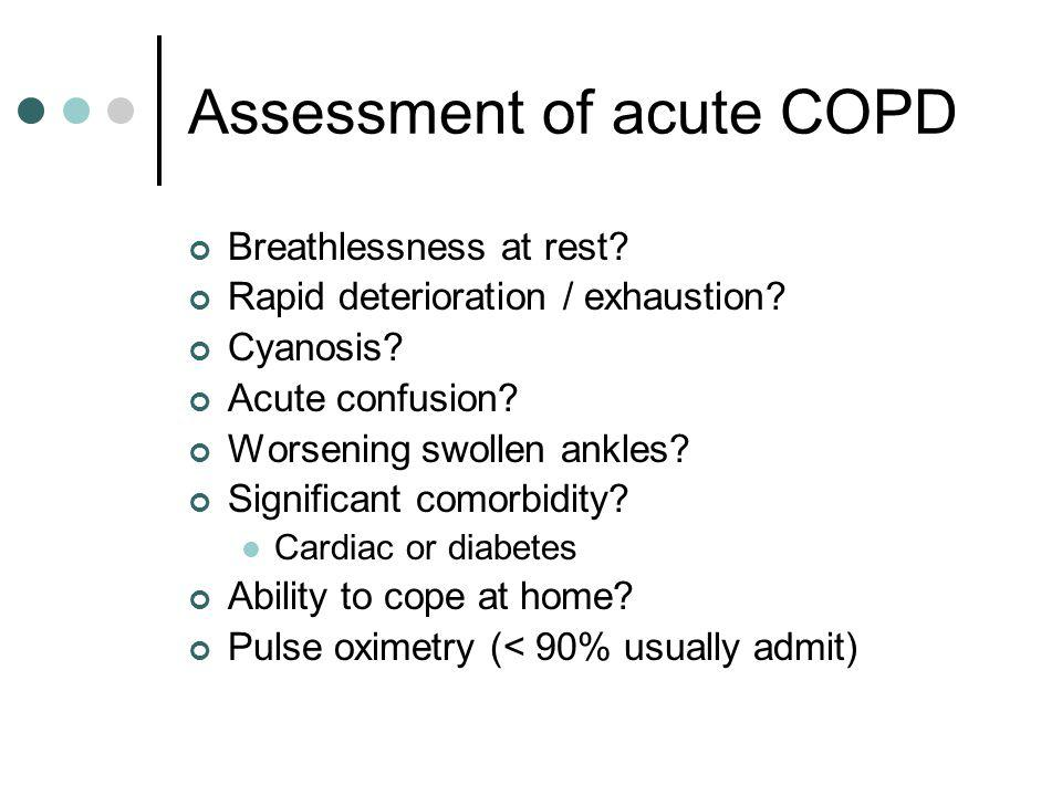 Assessment of acute COPD
