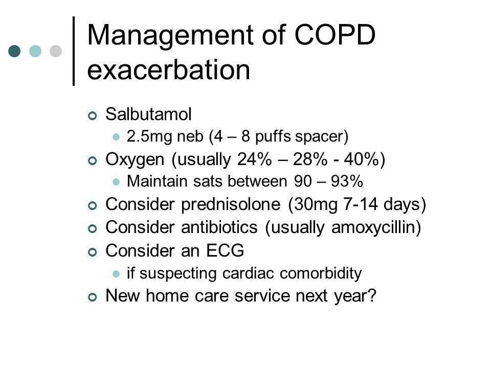 Management of COPD exacerbation
