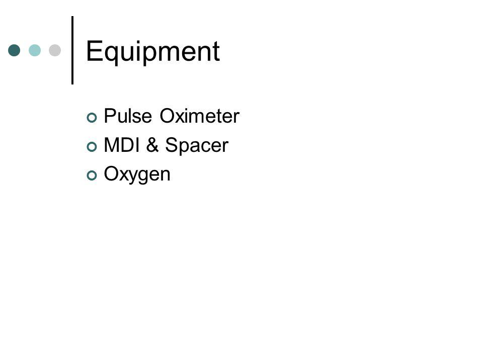 Equipment Pulse Oximeter MDI & Spacer Oxygen