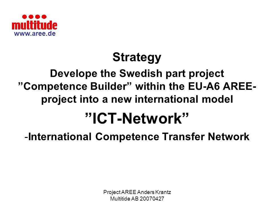 International Competence Transfer Network