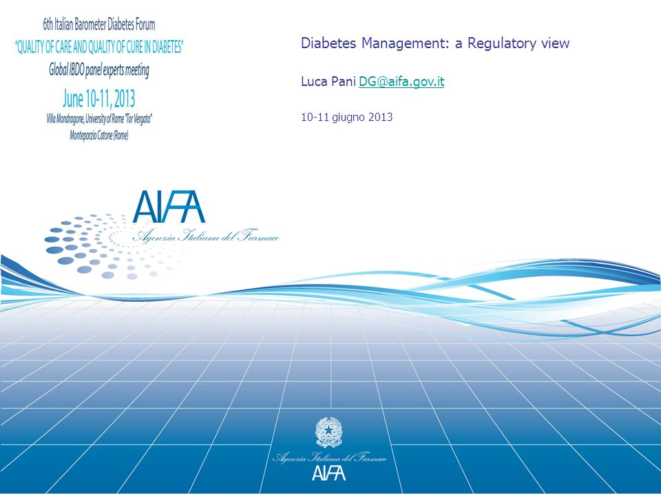Diabetes Management: a Regulatory view