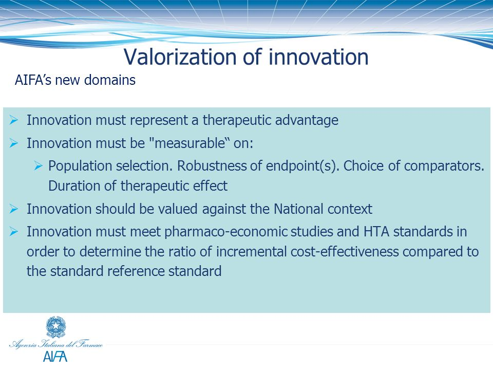 Valorization of innovation