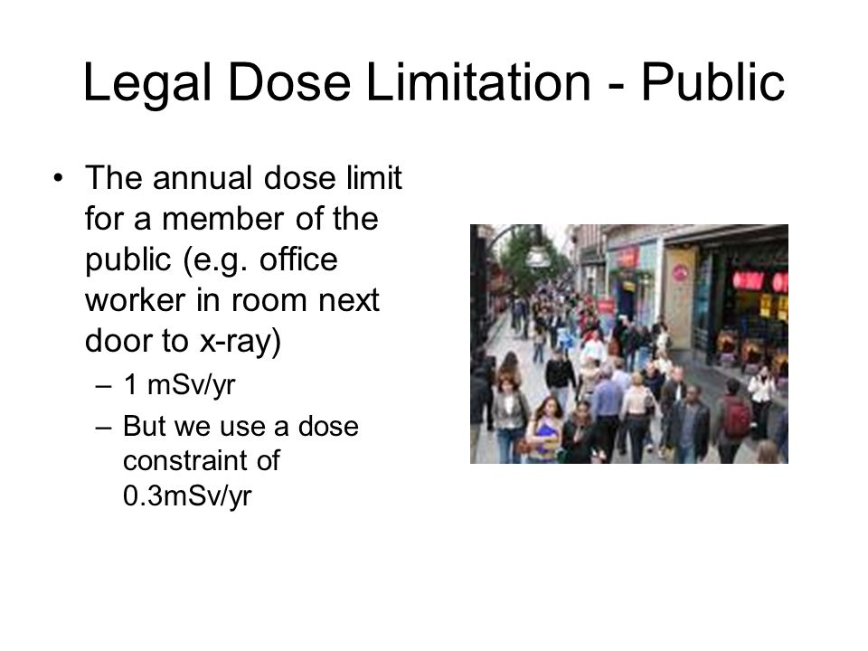 Legal Dose Limitation - Public