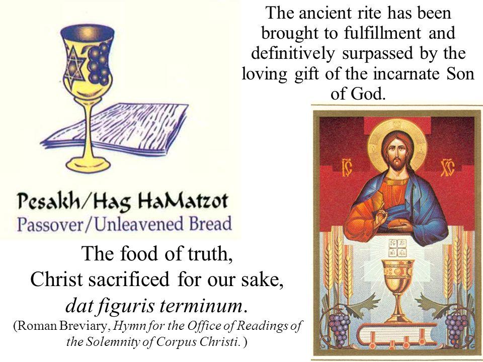 Christ sacrificed for our sake,