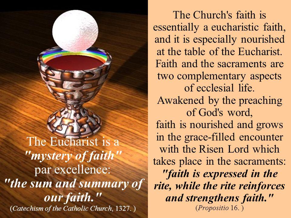 the sum and summary of our faith.