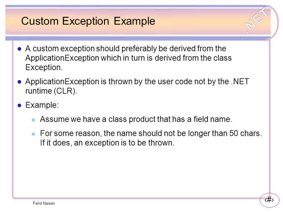 Custom Exception Example