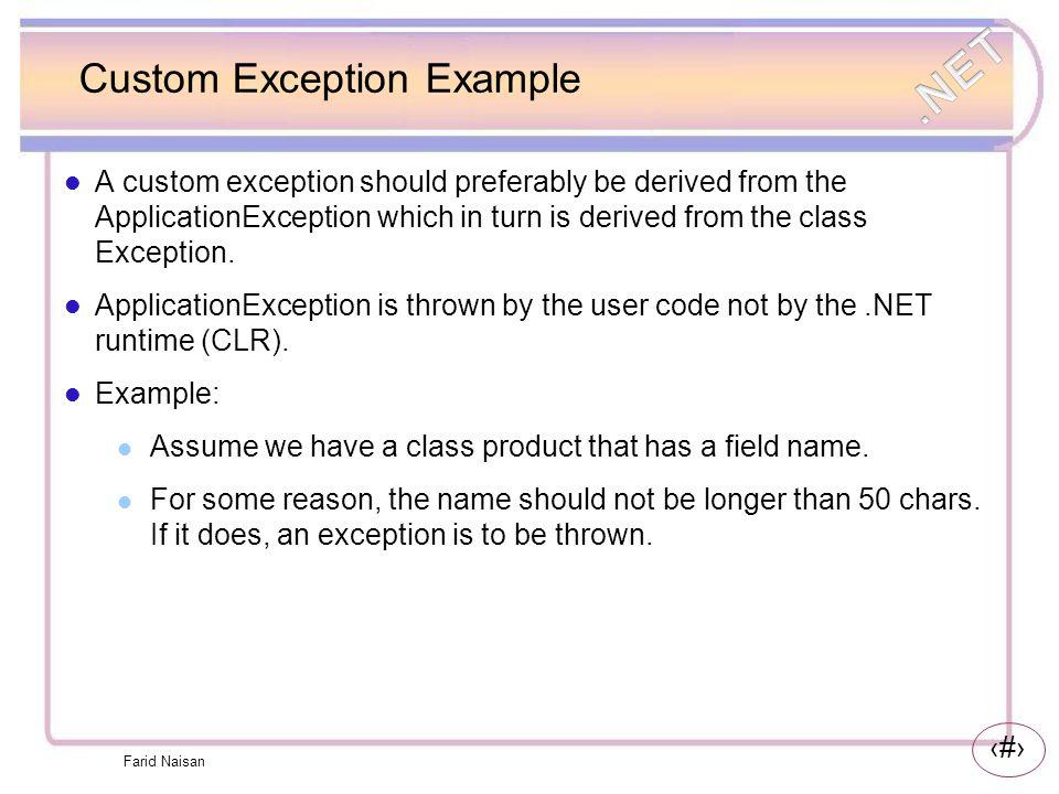 Custom Exception Example