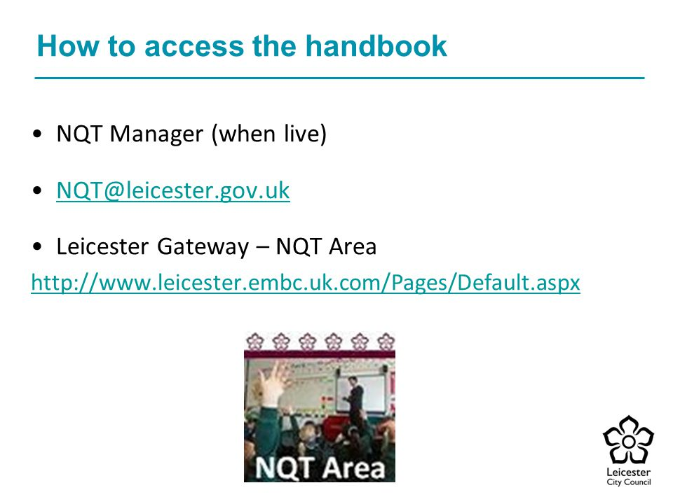 How to access the handbook