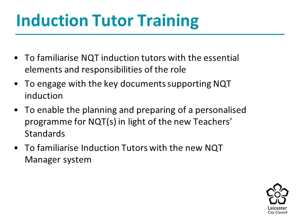 Induction Tutor Training
