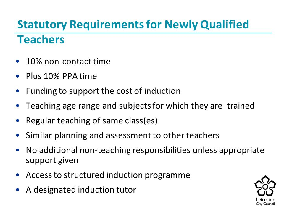 Statutory Requirements for Newly Qualified Teachers