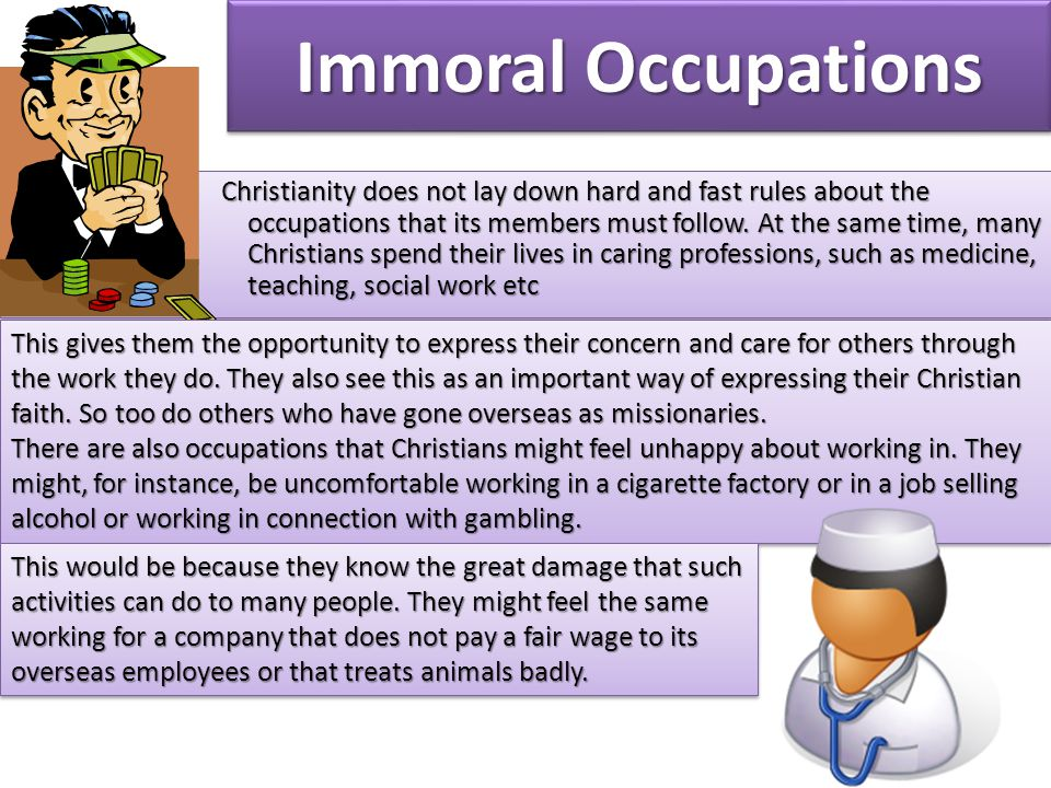 Immoral Occupations
