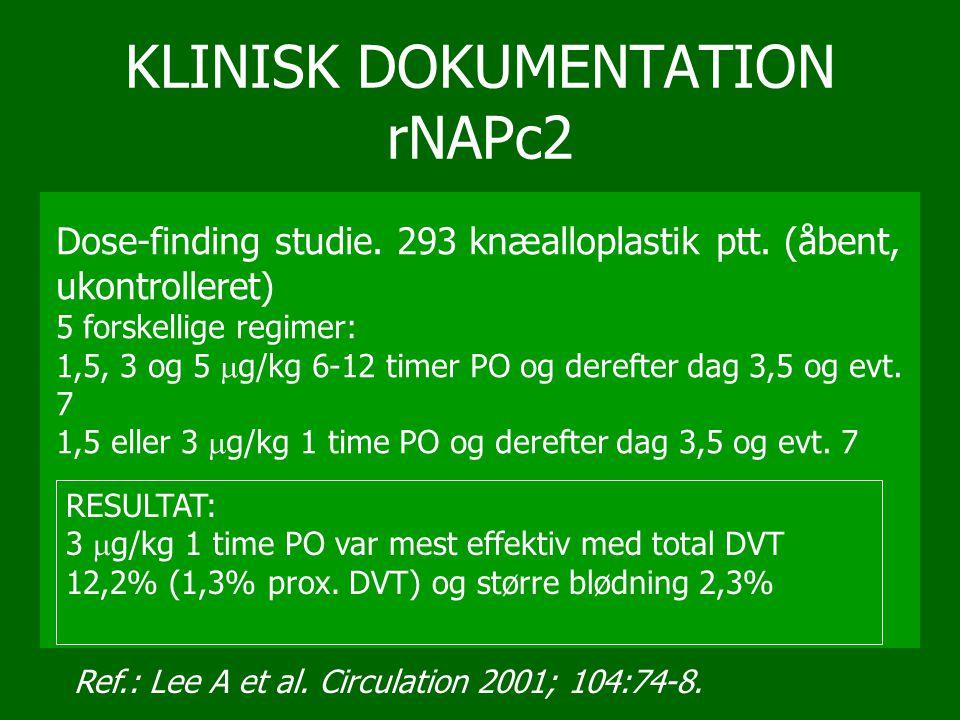 KLINISK DOKUMENTATION rNAPc2