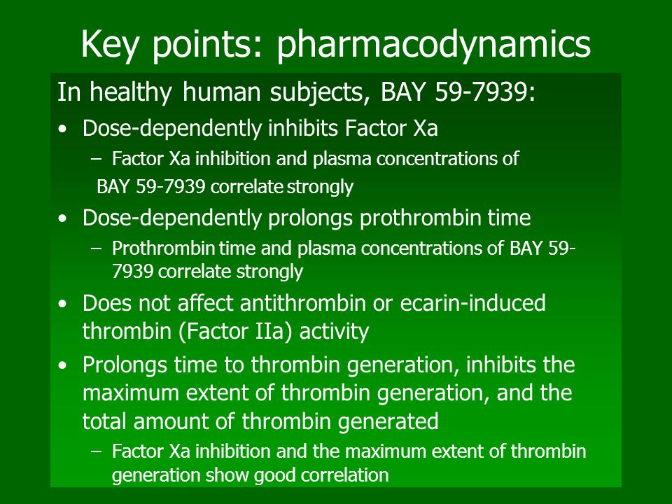 Key points: pharmacodynamics