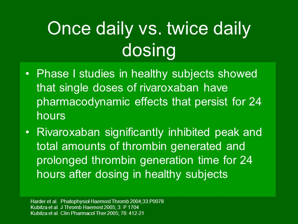 Once daily vs. twice daily dosing