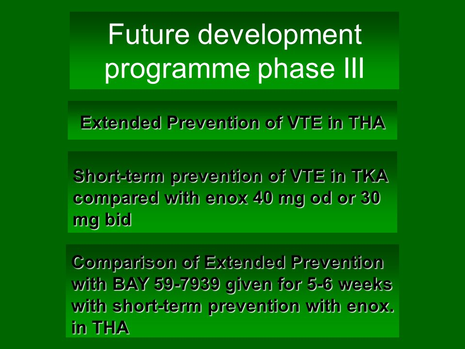 Future development programme phase III