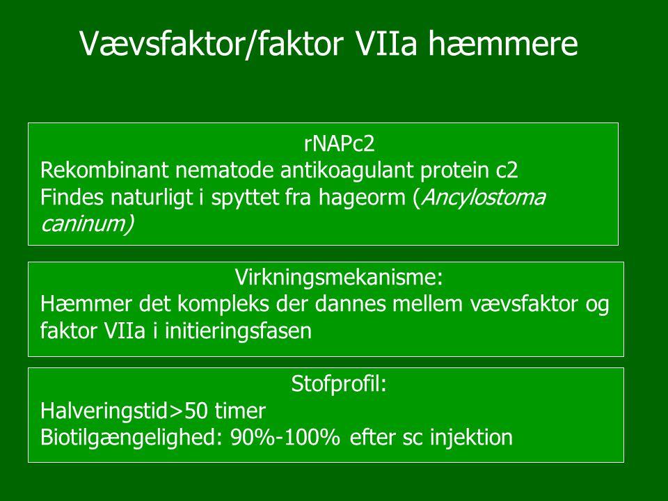 Vævsfaktor/faktor VIIa hæmmere