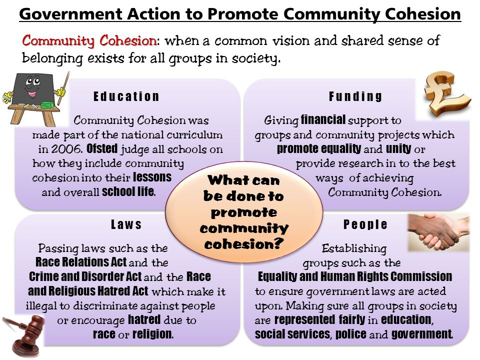 Government Action to Promote Community Cohesion