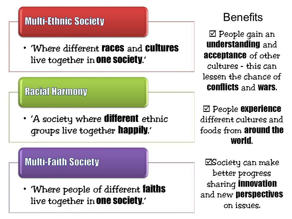 Benefits Multi-Ethnic Society