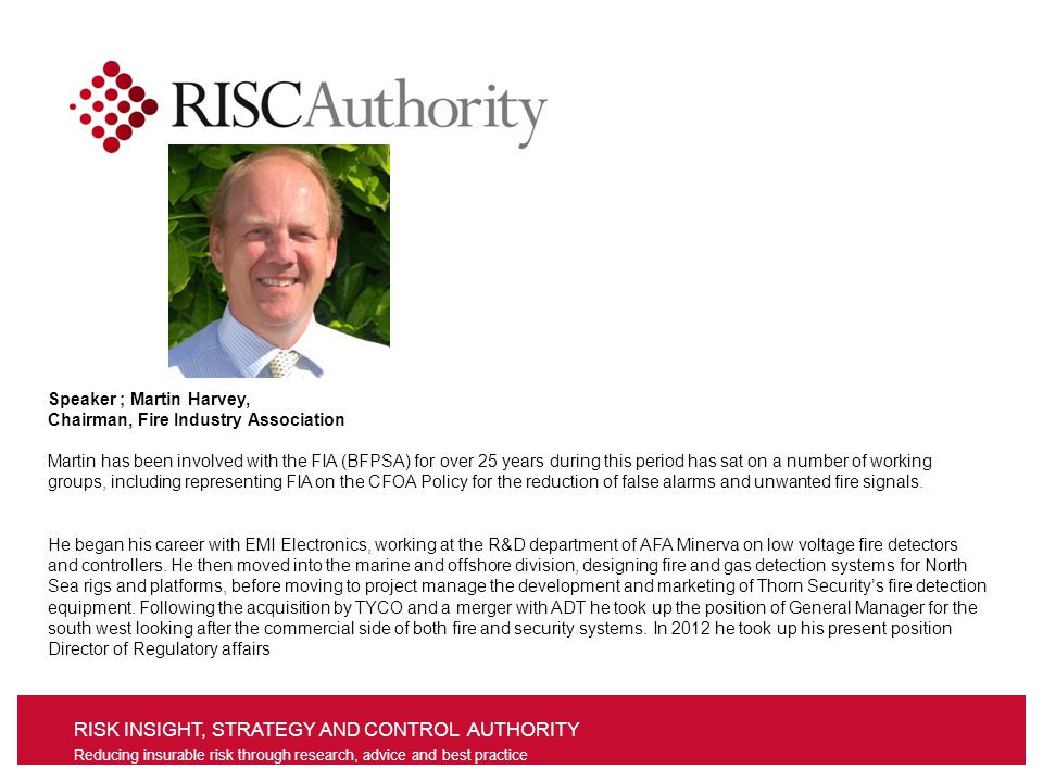 RISK INSIGHT, STRATEGY AND CONTROL AUTHORITY