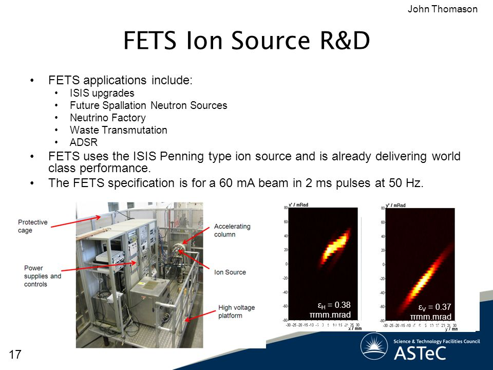 FETS Ion Source R&D FETS applications include:
