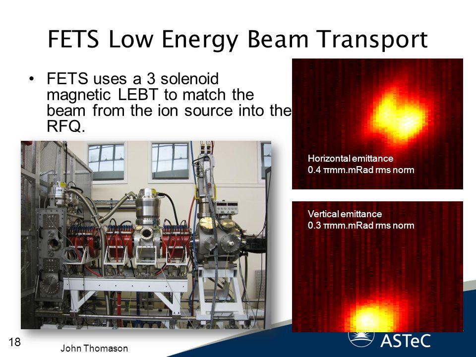 FETS Low Energy Beam Transport