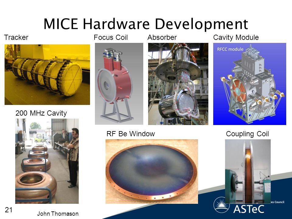 MICE Hardware Development