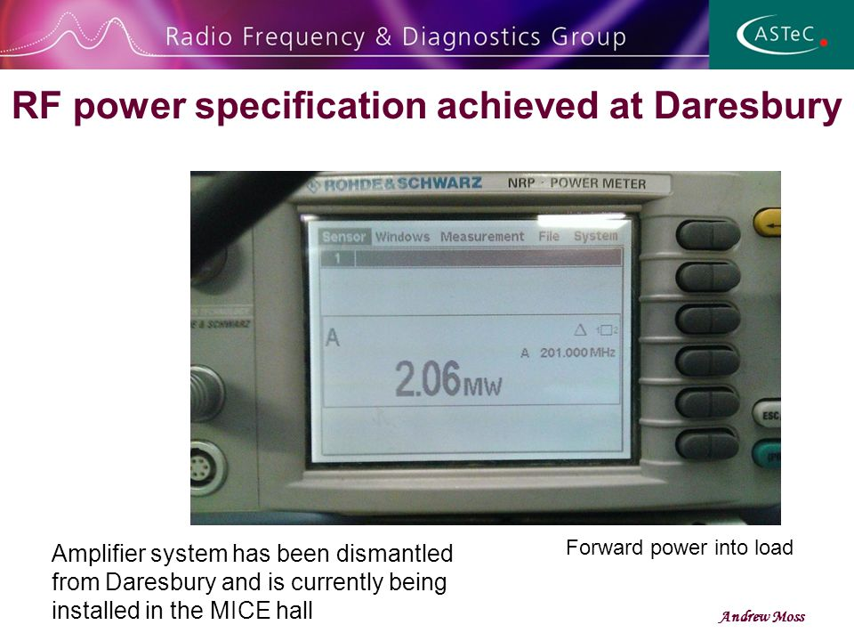 RF power specification achieved at Daresbury