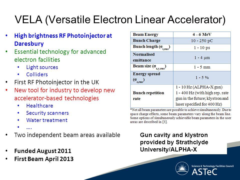 VELA (Versatile Electron Linear Accelerator)