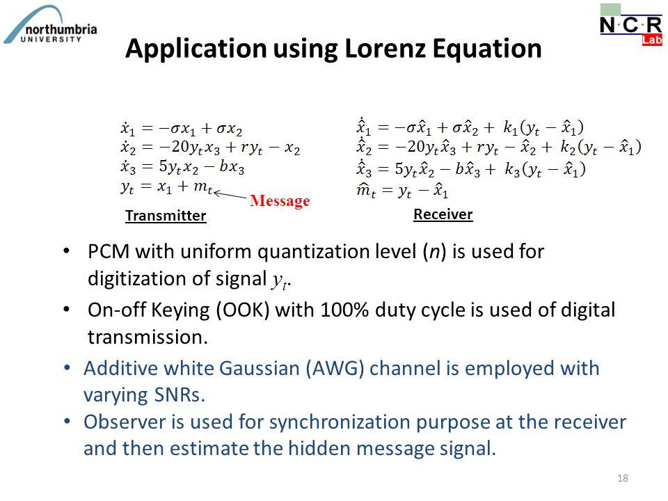 Application using Lorenz Equation