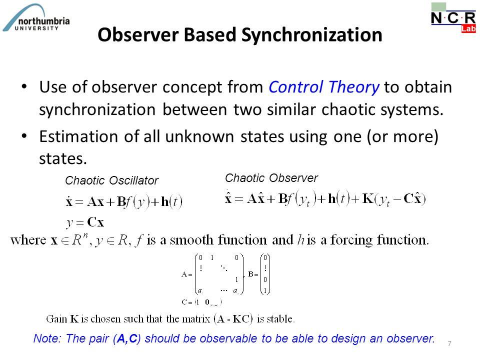 Observer Based Synchronization