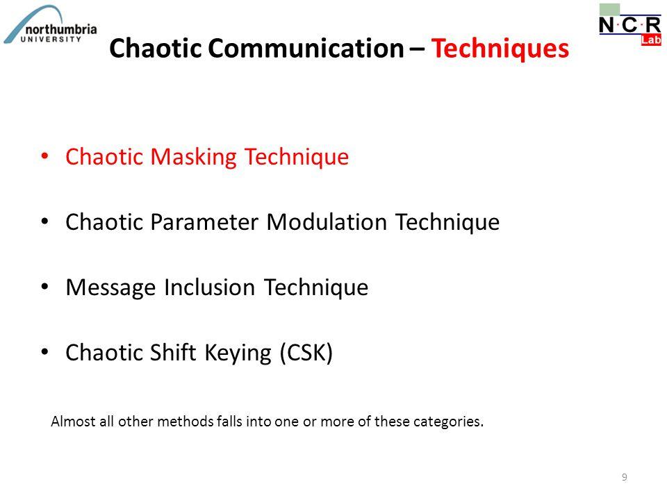 Chaotic Communication – Techniques