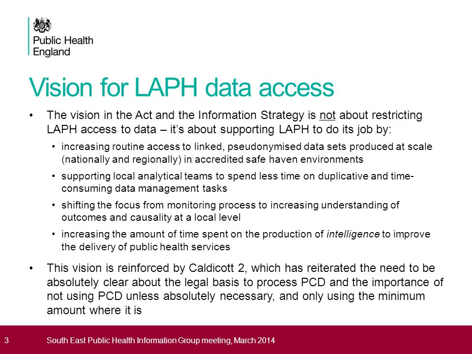 Vision for LAPH data access