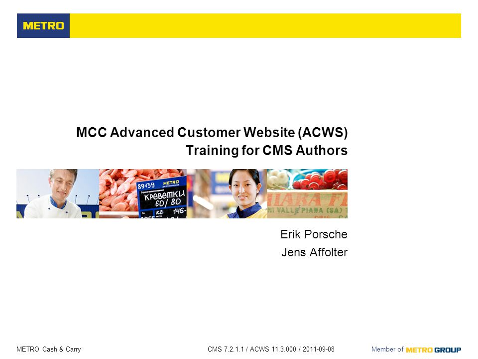 MCC Advanced Customer Website (ACWS) Training for CMS Authors