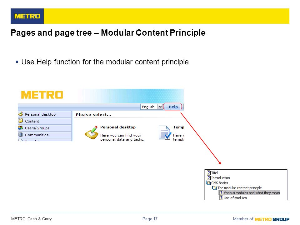 Pages and page tree – Modular Content Principle