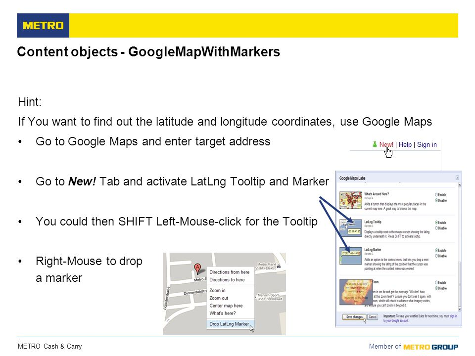 Content objects - GoogleMapWithMarkers