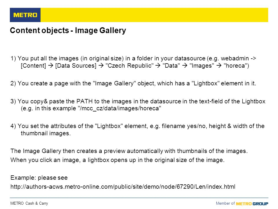 Content objects - Image Gallery