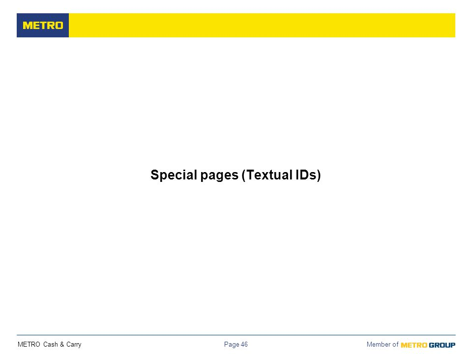 Special pages (Textual IDs)