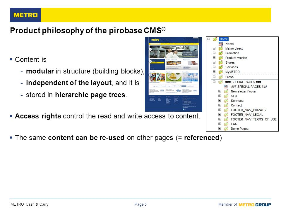 Product philosophy of the pirobase CMS®